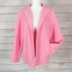 Eileen Fisher Pink Wool Cashmere Cardigan Jacket